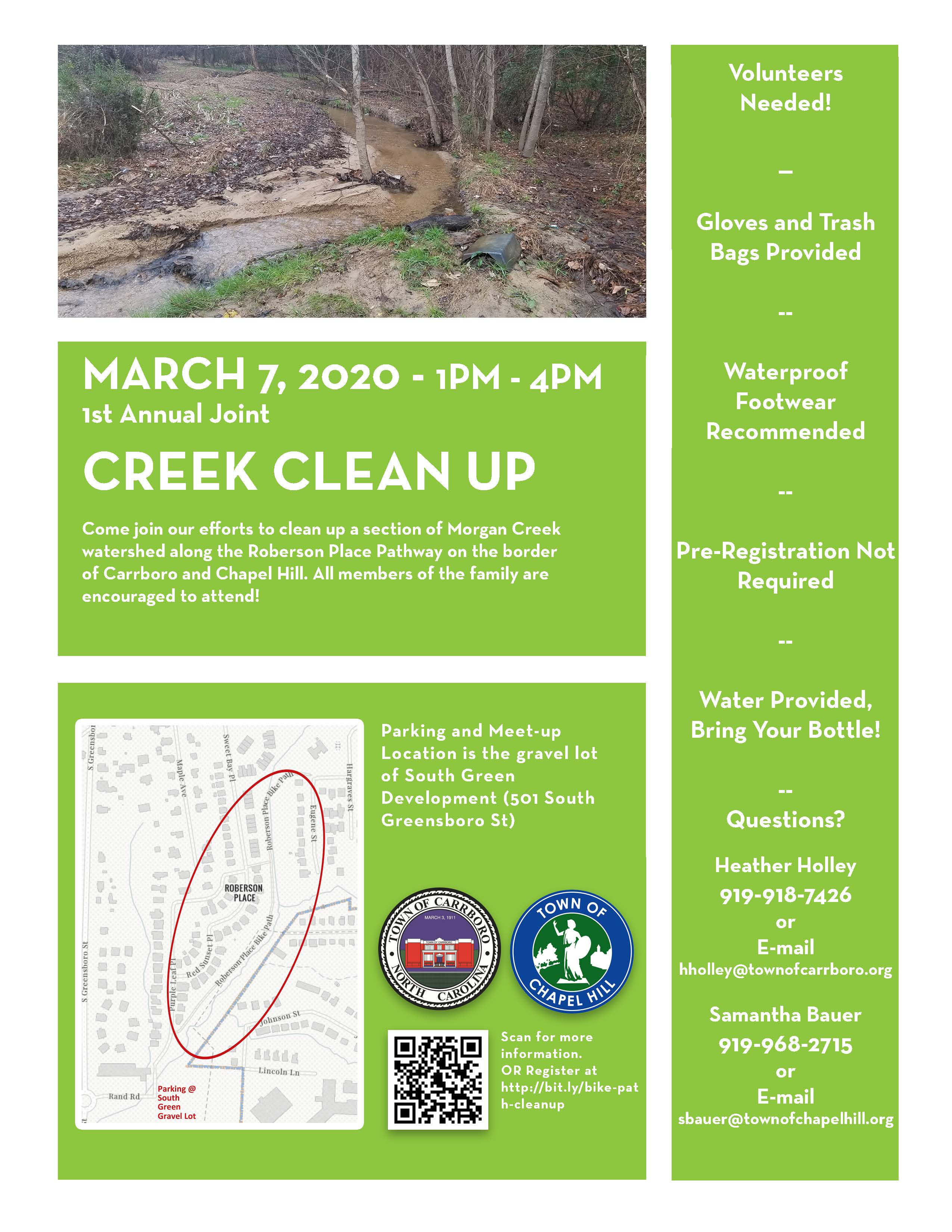 Creek Clean Up Carrboro Flyer